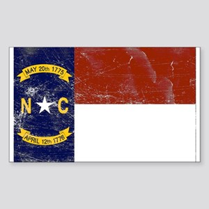 Vintage North Carolina State Sticker (Rectangle)