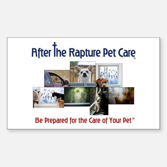 Rapture Care Pet Images Sticker (Rectangle)
