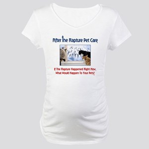 Logo with Cats at Window Maternity T-Shirt