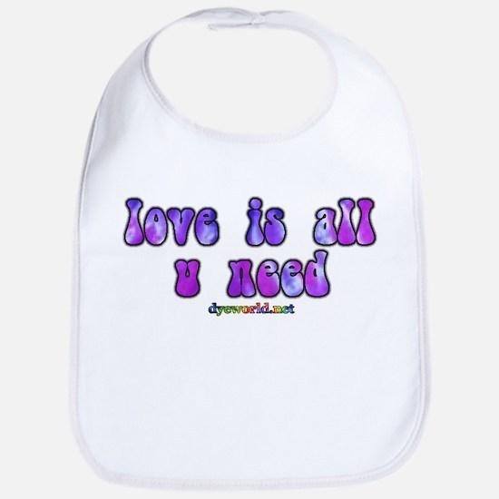 love is all u need Bib