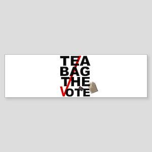 Tea Bag The Vote Sticker (Bumper)