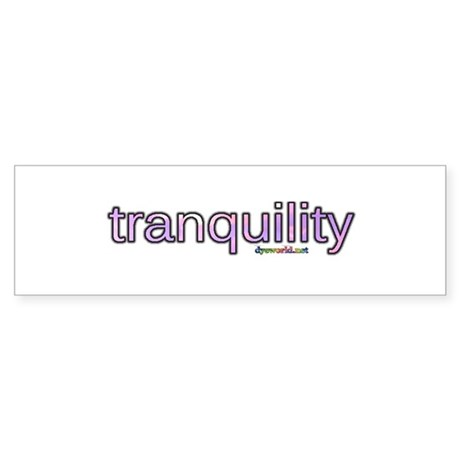 tranquility Sticker (Bumper)