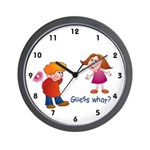 Guess What Wall Clock