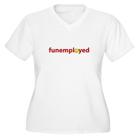 Funemployed - Coworkers (smil Women's Plus Size V-