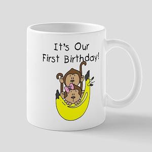 Twin Boy and Girl 1st Birthday Mug