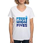 Free High Fives Women's V-Neck T-Shirt