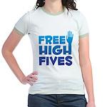Free High Fives Jr. Ringer T-Shirt