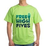 Free High Fives Green T-Shirt