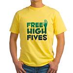Free High Fives Yellow T-Shirt