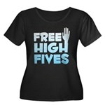 Free High Fives Women's Plus Size Scoop Neck Dark