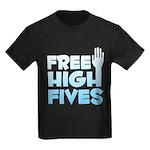 Free High Fives Kids Dark T-Shirt