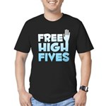 Free High Fives Men's Fitted T-Shirt (dark)