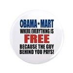 """Obama Mart 3.5"""" Button (100 pack)"""
