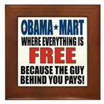 Obama Mart Framed Tile