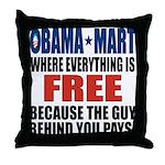 Obama Mart Throw Pillow
