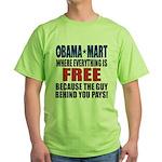 Obama Mart Green T-Shirt