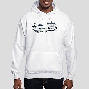 Narragansett RI - Surf Design Hooded Sweatshirt