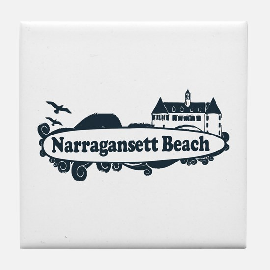 Narragansett RI - Surf Design Tile Coaster