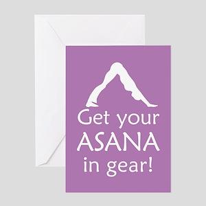 Yoga Get Your Asana In Gear Greeting Card