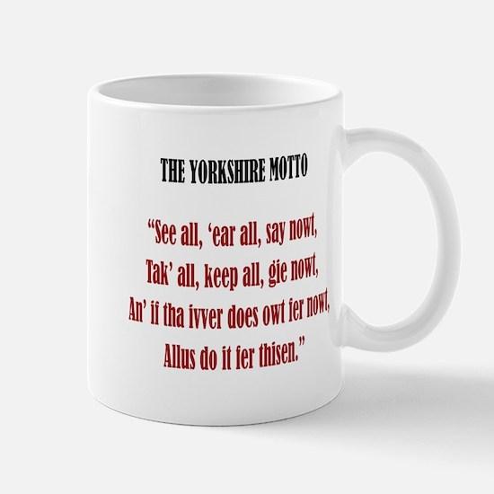 Yorkshire Motto Mug