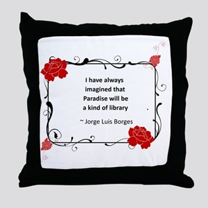 Paradise Library Throw Pillow
