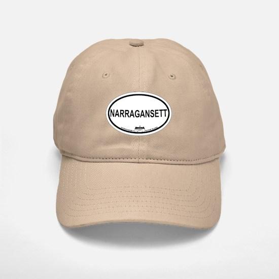 Narragansett RI Oval Design Baseball Baseball Cap