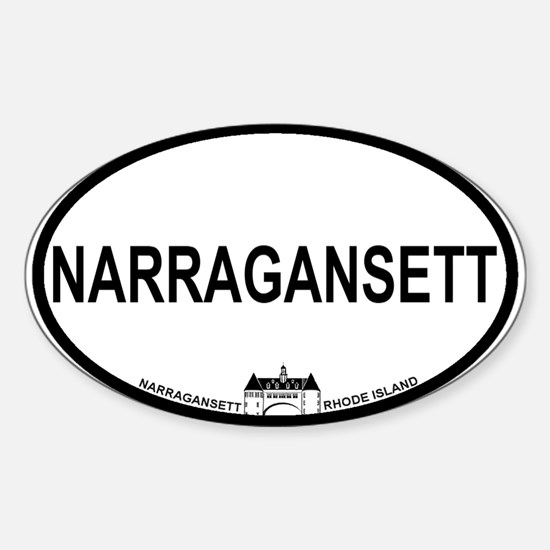 Narragansett RI Oval Design Sticker (Oval)