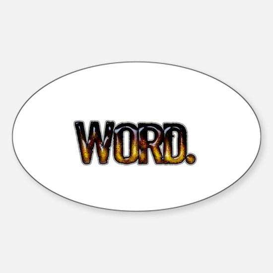 Word. Sticker (Oval)