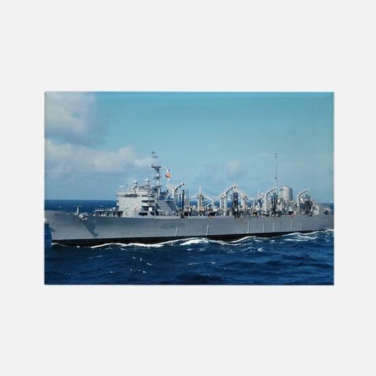 USS Detroit Ship's Image Rectangle Magnet
