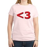 Less than 3 Women's Light T-Shirt