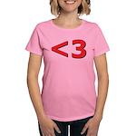 Less than 3 Women's Dark T-Shirt