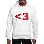 Less than 3 Hooded Sweatshirt