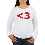 Less than 3 Women's Long Sleeve T-Shirt