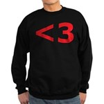 Less than 3 Sweatshirt (dark)