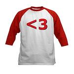 Less than 3 Kids Baseball Jersey