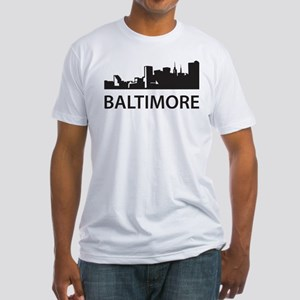 Baltimore Skyline Fitted T-Shirt