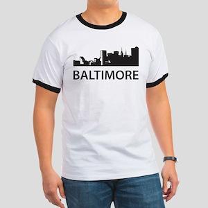 Baltimore Skyline Ringer T