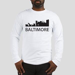 Baltimore Skyline Long Sleeve T-Shirt