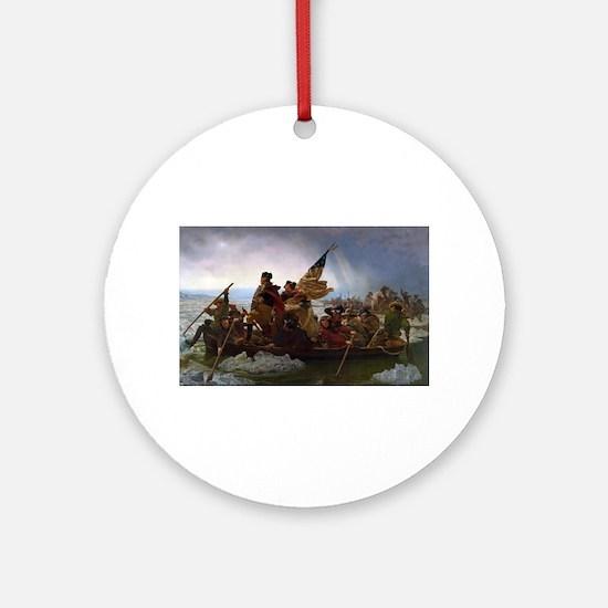 Washington Crossing the Delaware E Round Ornament