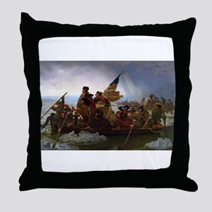 Washington Crossing the Delaware E Go Throw Pillow