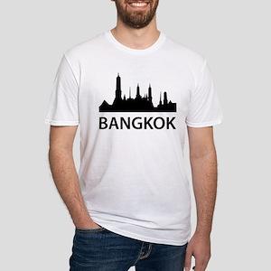 Bangkok Skyline Fitted T-Shirt