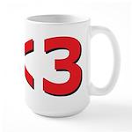 Less than 3 Large Mug