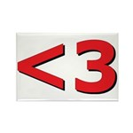 Less than 3 Rectangle Magnet (10 pack)