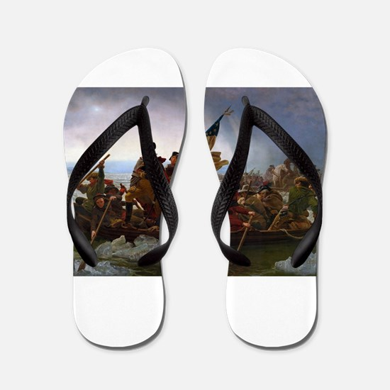 Washington Crossing the Delaware E Gott Flip Flops