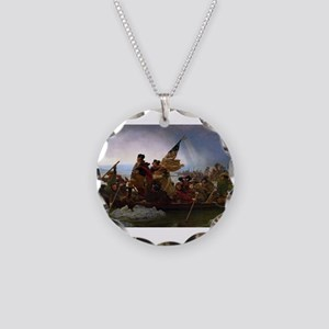 Washington Crossing the Dela Necklace Circle Charm