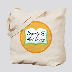 Colorful Property Of Mrs Darcy Tote Bag