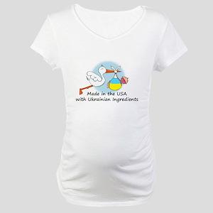 Stork Baby Ukraine USA Maternity T-Shirt