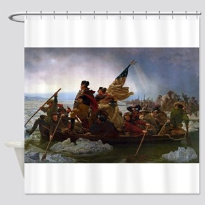 Washington Crossing the Delaware E Shower Curtain