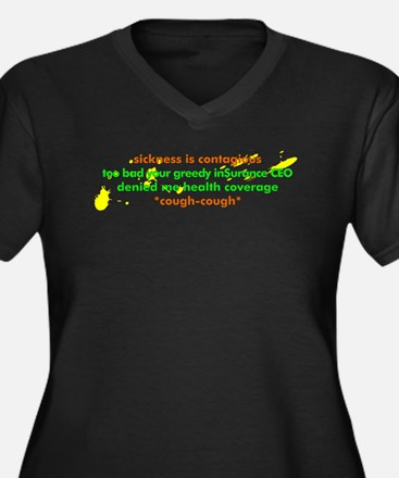 Sickness is contagious - Women's Plus Size V-Neck