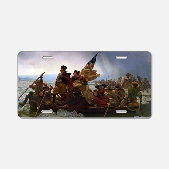 Washington Crossing the Del Aluminum License Plate